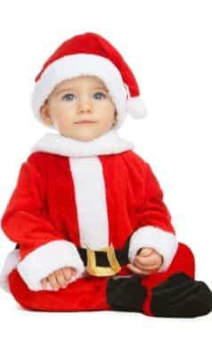 Perfetto costume da babbo natale neonato
