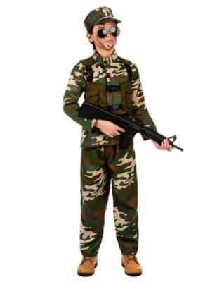 Perfetto costume da militare (bambino)