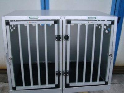 sconto gabbie alluminio per cani