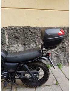 sconto portapacchi moto