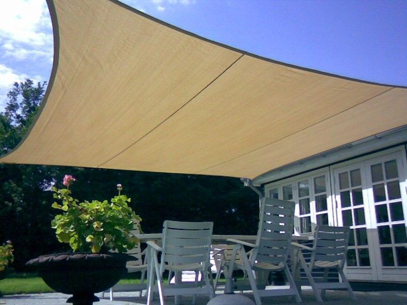Tenda a Vela in HDPE Grigio Fumo GSS46GY per Giardino Terrazzo Balcone SONGMICS Vela Ombreggiante 4 x 6 m Respirante Schermo UV