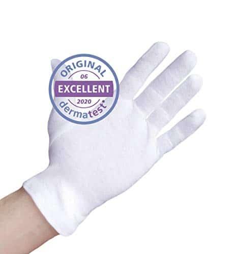 guanti cotone dermatologici