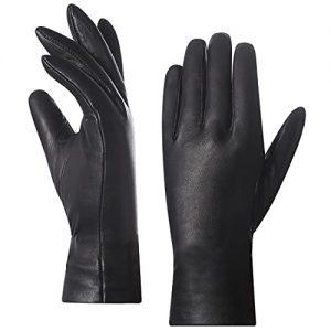 guanti donna pelle