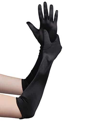 guanti lunghi donna