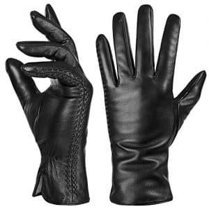 guanti pelle donna