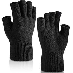 guanti uomo senza dita