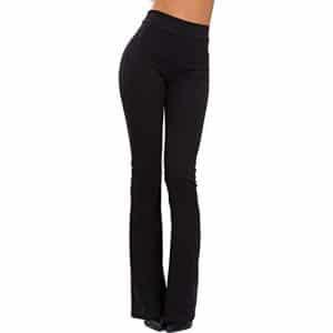 sconto pantaloni neri elasticizzati