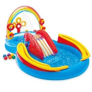 piscina con scivolo per bambini a sconto