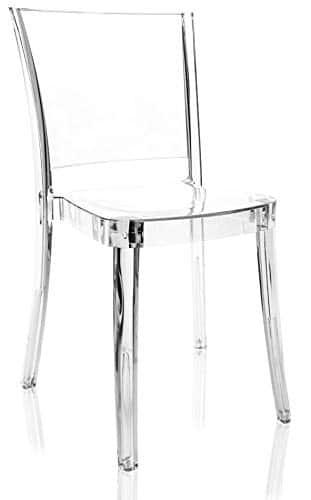 Sedia in policarbonato trasparente
