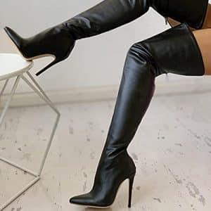 stivali donna alti sopra ginocchio sconto